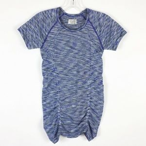 Athleta Size Marled Space Dye Stripe Ruched Top